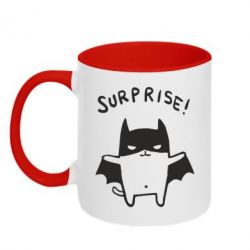 Кружка двухцветная Surprise! - FatLine