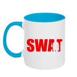 Кружка двухцветная SWAT - FatLine