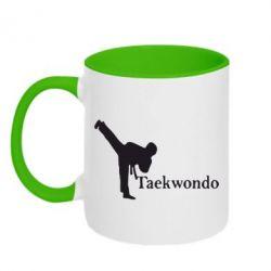 Кружка двухцветная Taekwondo - FatLine