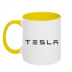 Кружка двухцветная Тесла - FatLine