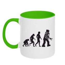 Кружка двухцветная The Bing Bang theory Evolution - FatLine