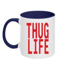 Кружка двухцветная thug life - FatLine