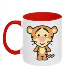 Кружка двухцветная тигрюля - FatLine