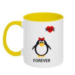 Кружка двухцветная Together forever - FatLine
