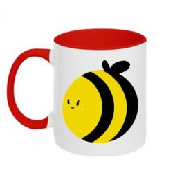Кружка двухцветная толстая пчелка - FatLine