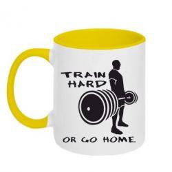 Кружка двухцветная Train Hard or Go Home - FatLine