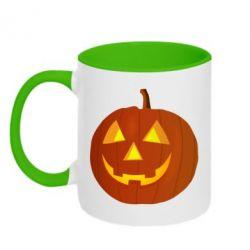 Кружка двухцветная Тыква Halloween - FatLine