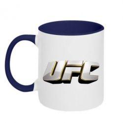 Кружка двухцветная UFC 3D - FatLine