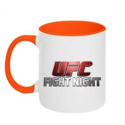 Кружка двухцветная UFC Fight Night - FatLine