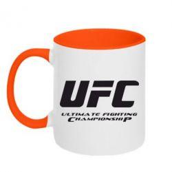 Кружка двухцветная UFC - FatLine