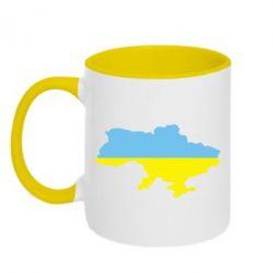 Кружка двухцветная Украина - FatLine