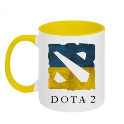 Кружка двухцветная Ukraine Dota Team - FatLine
