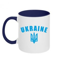 Кружка двухцветная Ukraine + герб - FatLine