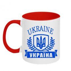 Кружка двухцветная Ukraine Украина - FatLine