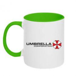 Кружка двухцветная Umbrella Corp - FatLine