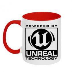 Кружка двухцветная Unreal - FatLine
