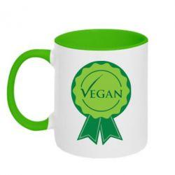 Кружка двухцветная Vegan - FatLine