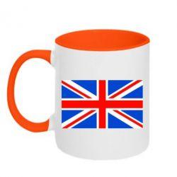 Кружка двухцветная Великобритания - FatLine