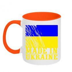 Кружка двухцветная Виготовлено в Україні - FatLine