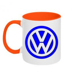 Кружка двухцветная Volkswagen Logo - FatLine