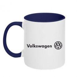 Кружка двухцветная Volkswagen Motors - FatLine