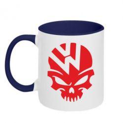 Кружка двухцветная Volkswagen Skull - FatLine