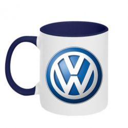 Кружка двухцветная Volkswagen Small Logo - FatLine