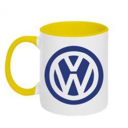 Кружка двухцветная Volkswagen - FatLine
