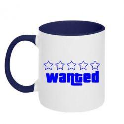 Кружка двухцветная Wanted - FatLine