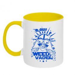 Кружка двухцветная Weed Vader - FatLine