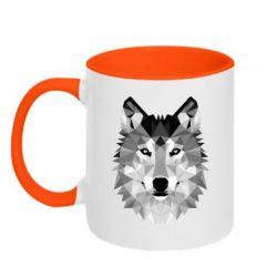 Кружка двухцветная Wolf Art - FatLine