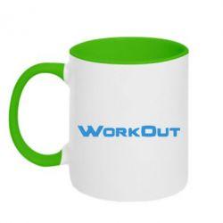 Кружка двухцветная Workout - FatLine