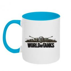 Кружка двухцветная World Of Tanks 3D Logo - FatLine