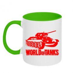 Кружка двухцветная World Of Tanks Game - FatLine