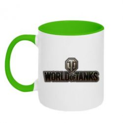 Кружка двухцветная World Of Tanks Logo - FatLine