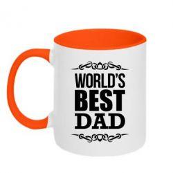 Кружка двухцветная World's Best Dad - FatLine