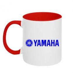 Кружка двухцветная Yamaha Logo - FatLine
