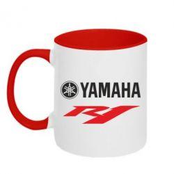 Кружка двухцветная Yamaha R1 - FatLine