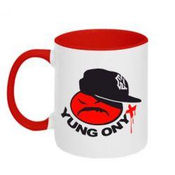 Кружка двухцветная Yung ONYX - FatLine