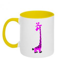 Кружка двухцветная Жираф - FatLine