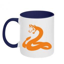 Кружка двухцветная Змея - FatLine