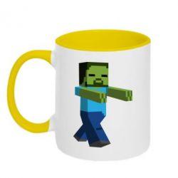 Кружка двухцветная Зомби Minecraft - FatLine