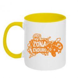 Кружка двухцветная Zona Enduro - FatLine