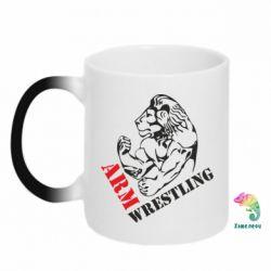 Кружка-хамелеон Arm Wrestling - FatLine