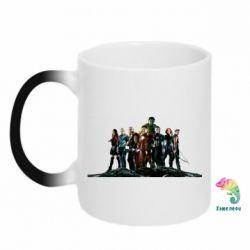 Кружка-хамелеон Avengers on the rock - FatLine