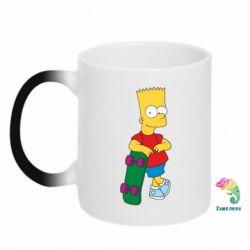 Кружка-хамелеон Bart Simpson - FatLine