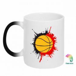 Кружка-хамелеон Баскетбольный мяч - FatLine