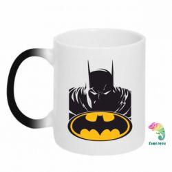 Кружка-хамелеон Batman face - FatLine