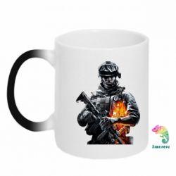Кружка-хамелеон Battlefield Warrior - FatLine