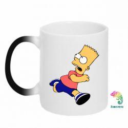 Кружка-хамелеон Беги, Барт, беги! - FatLine